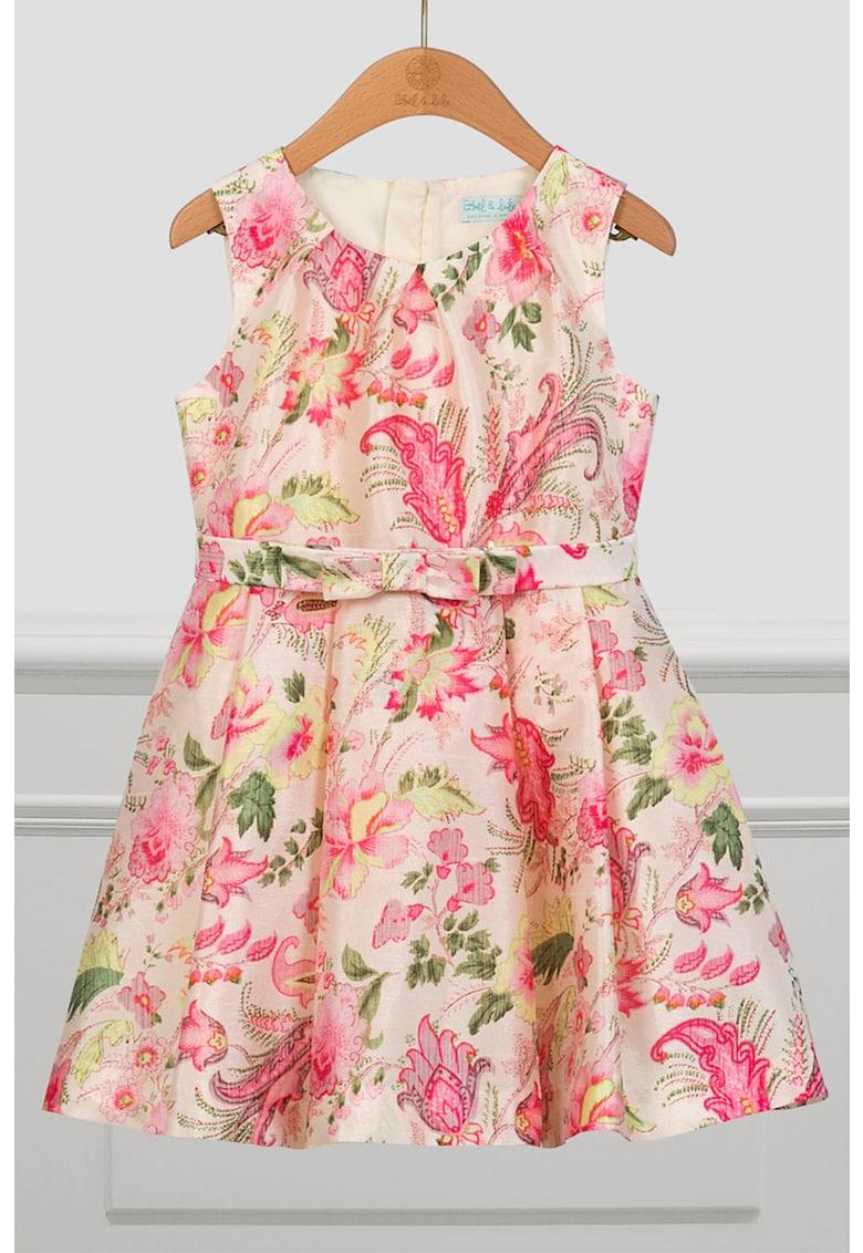 Rochie fara maneci cu model floral imagine promotie
