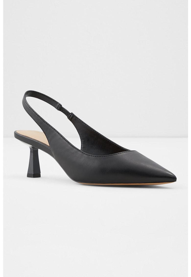 Pantofi slingback de piele ecologica cu varf ascutit Peranga