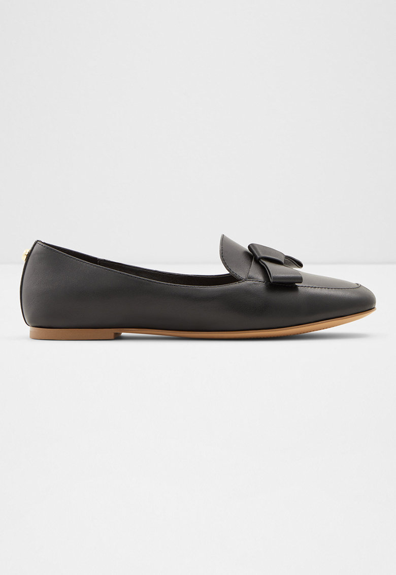 Pantofi loafer de piele cu funda Lemonnier imagine fashiondays.ro 2021