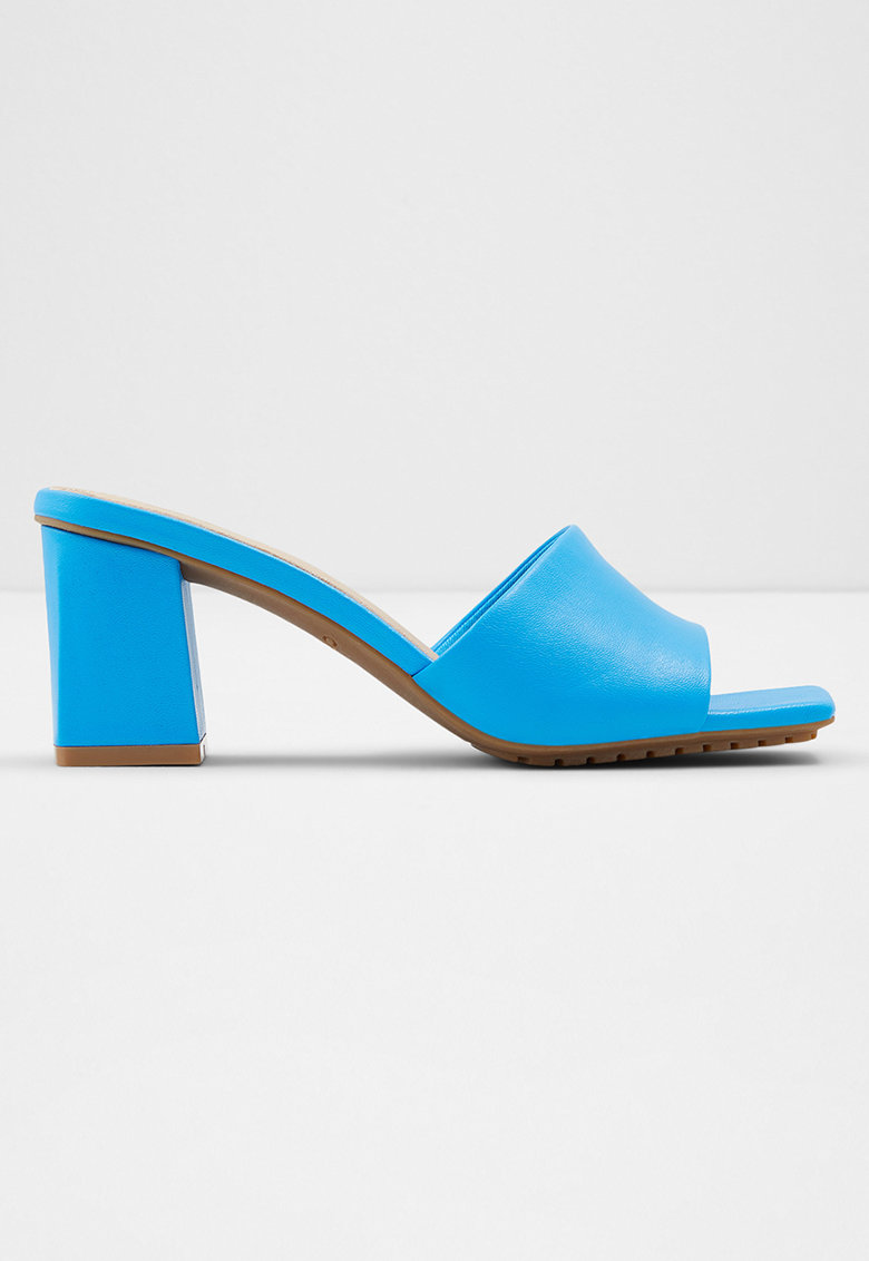 Papuci cu toc masiv - din piele Velalith imagine fashiondays.ro 2021