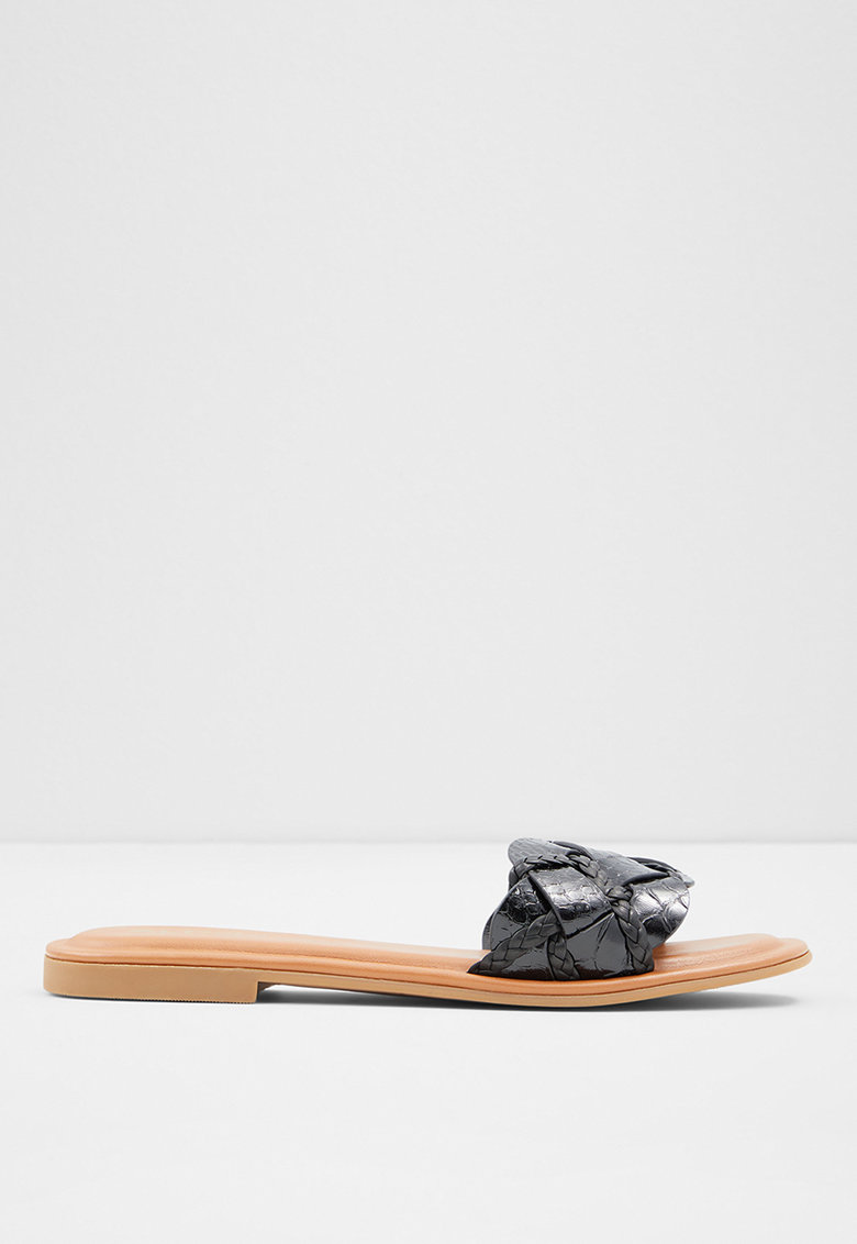 Papuci de piele ecologica cu aspect de piele de sarpe Lothelalian de la Aldo