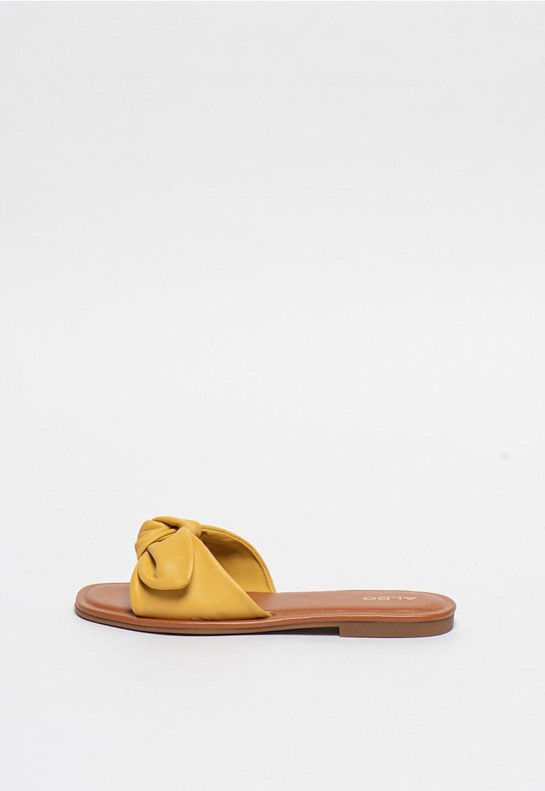 Papuci de piele cu detaliu innodat Abayrith de la Aldo