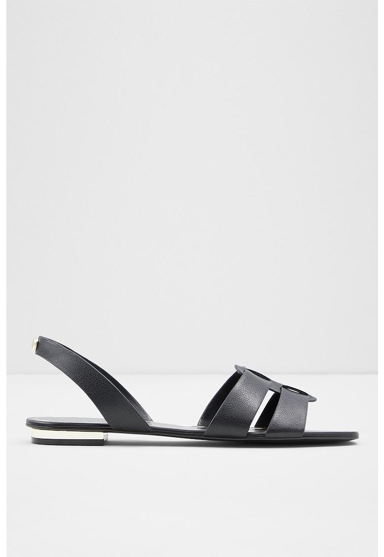 Sandale de piele ecologica cu talpa plata Lothathiel Aldo fashiondays.ro