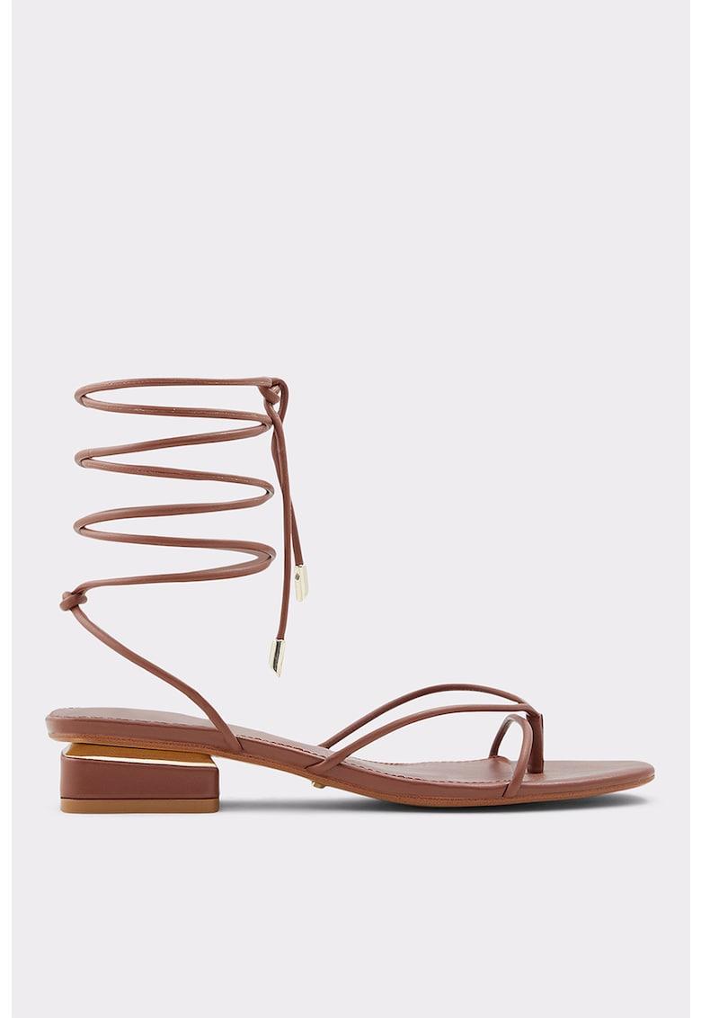 Sandale de piele ecologica cu toc Giannaflex fashiondays.ro