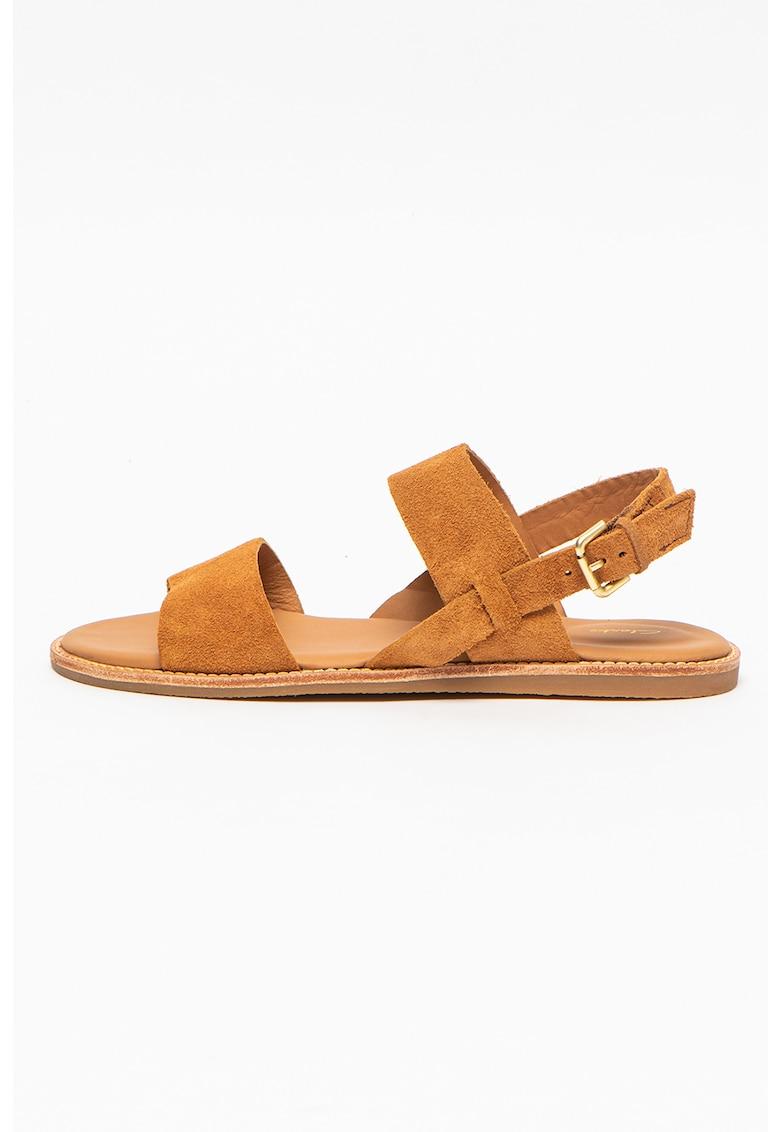 Sandale din piele intoarsa cu calcai decupat Karsea