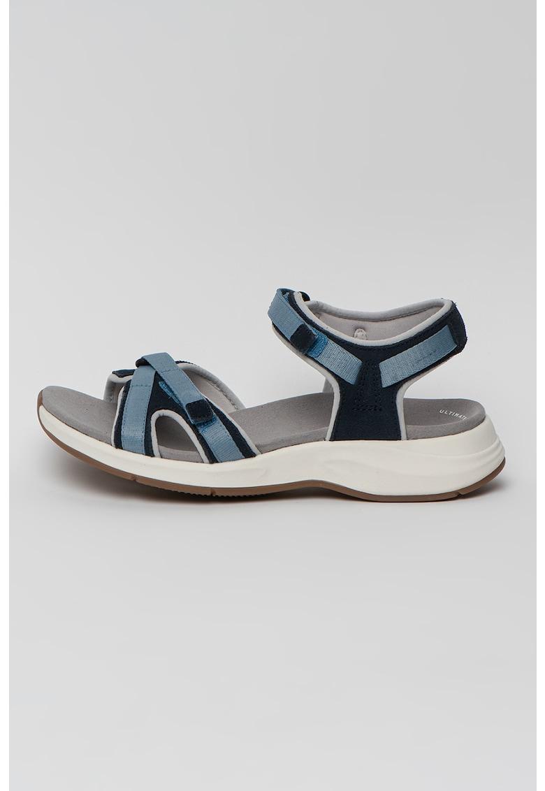 Sandale de piele si material textil Solan Drift