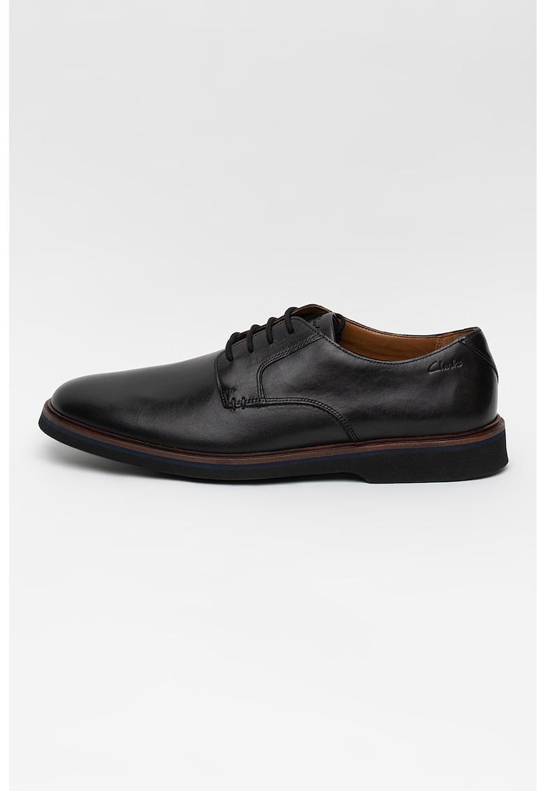 Pantofi derby de piele cu model uni Malwood de la Clarks