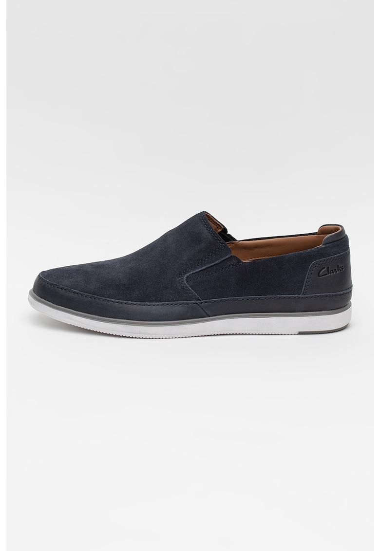 Clarks Pantofi loafer de piele intoarsa Bratton