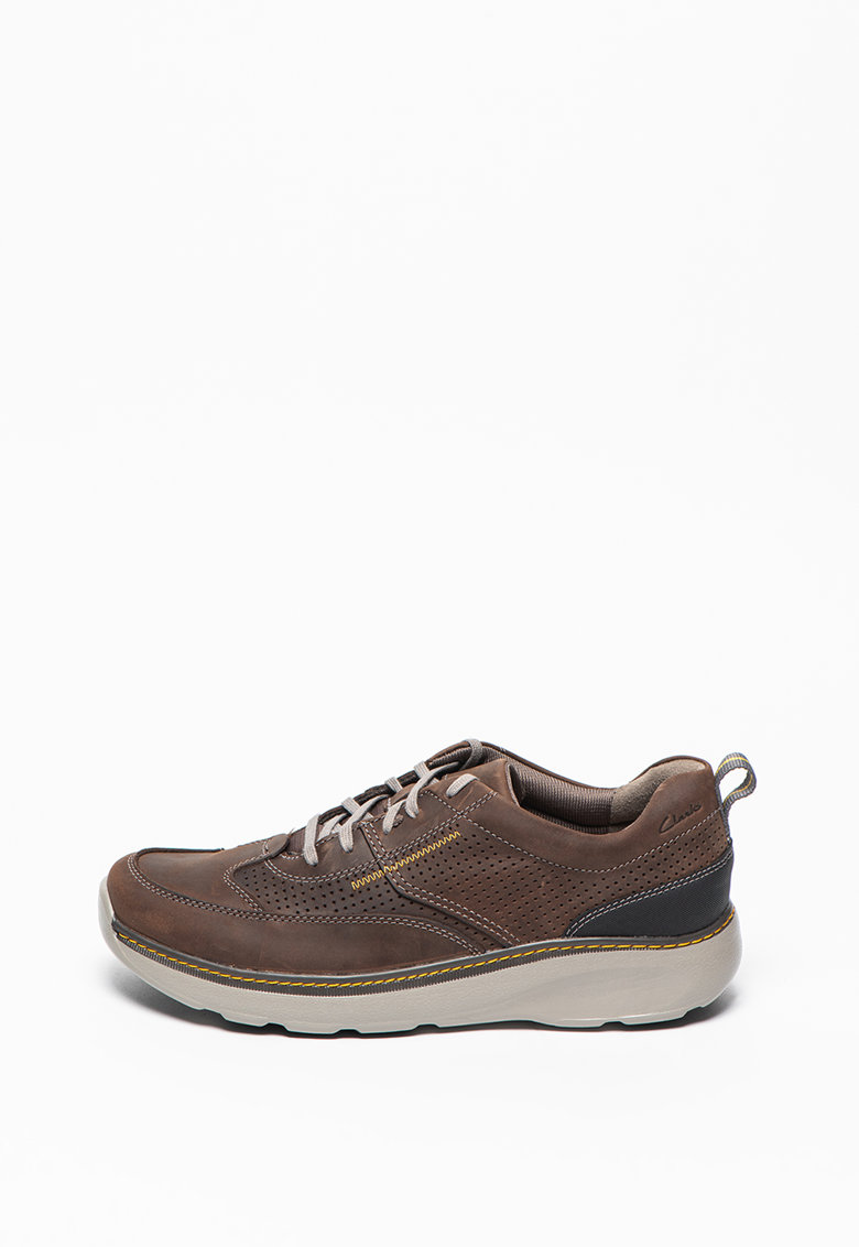 Pantofi sport de piele nabuc cu detalii perforate Charton-Mix