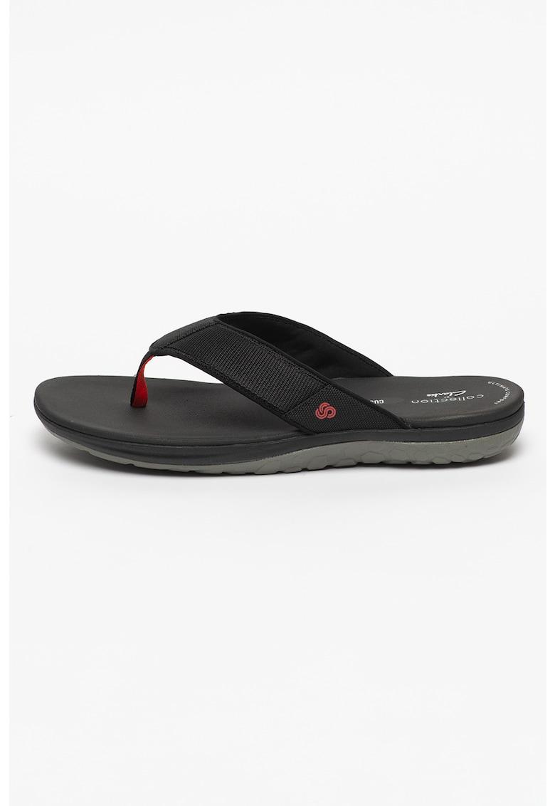 Papuci flip-flop cu aspect texturat Step Beat Dune imagine fashiondays.ro 2021