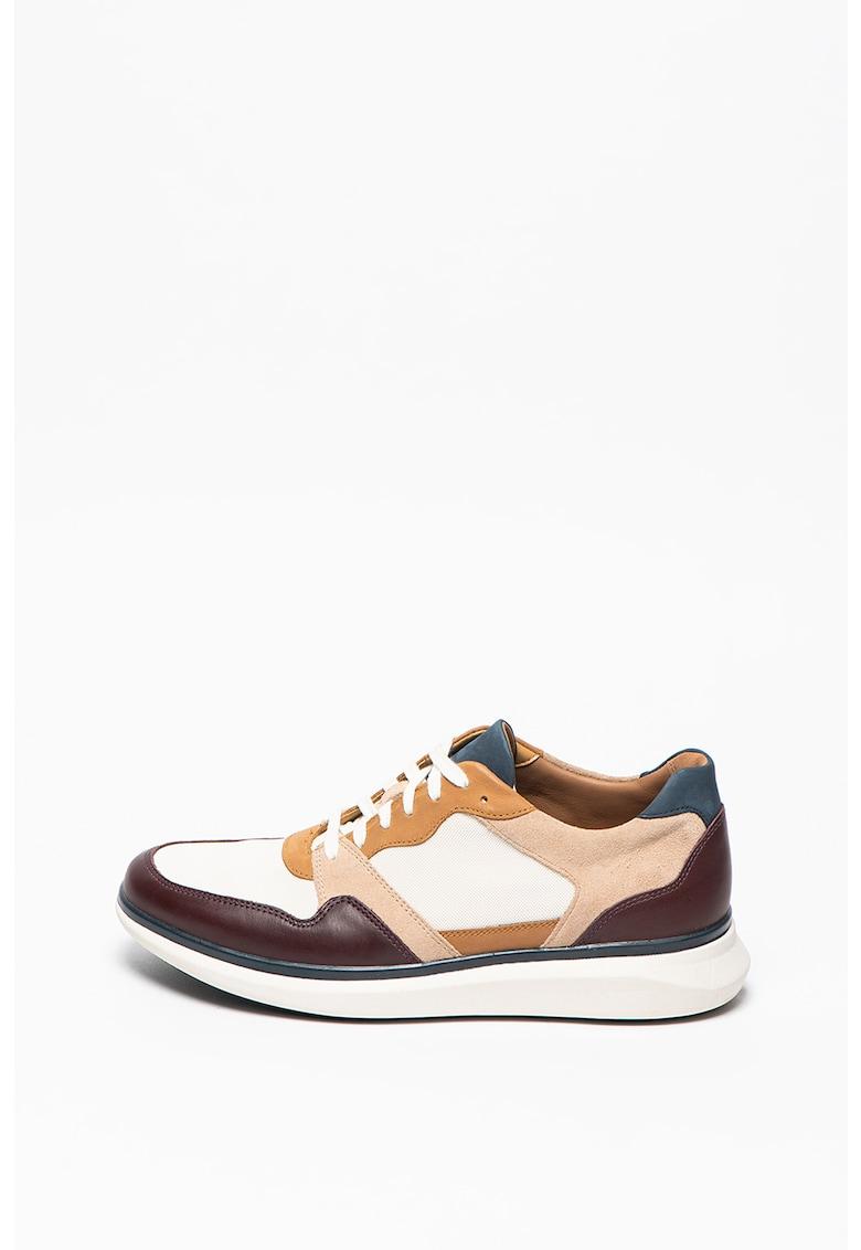 Pantofi sport colorblock cu garnituri de piele Un Globe Run