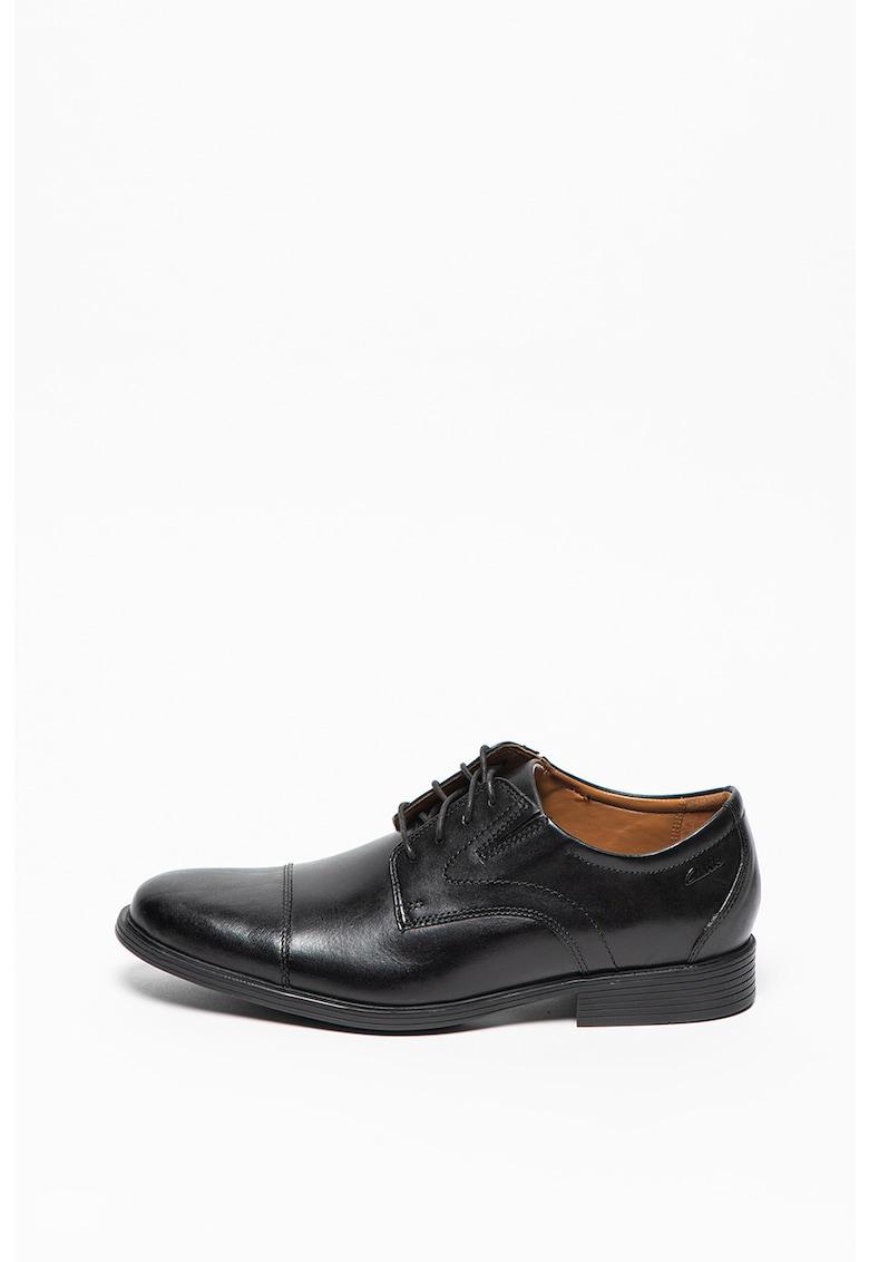 Clarks Pantofi derby de piele cu aplicatie cap-toe Whiddon Cap