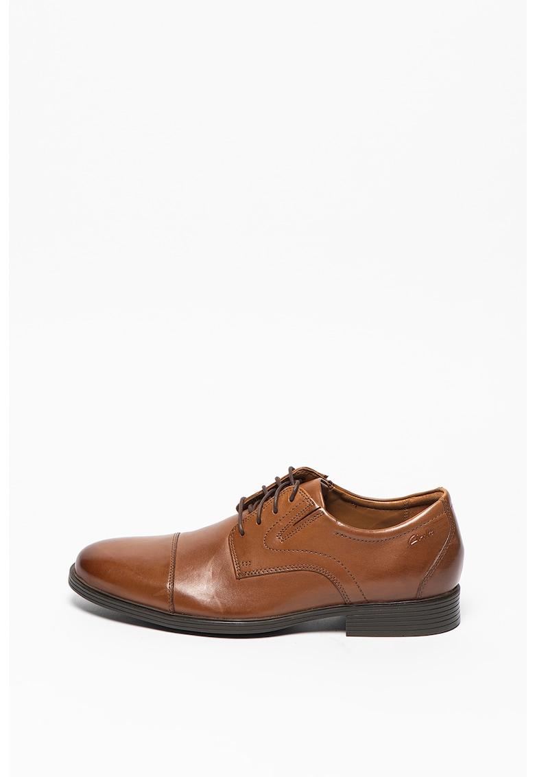 Pantofi derby de piele cu aplicatie cap-toe Whiddon Cap imagine