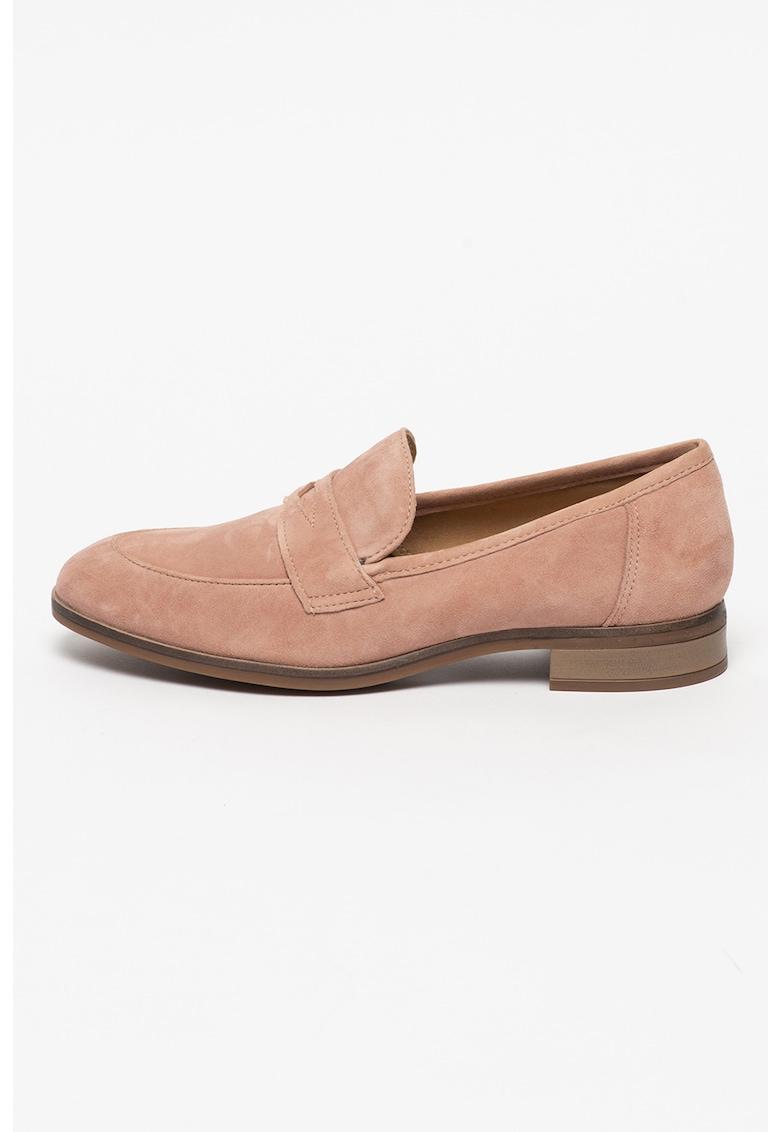 Clarks Pantofi loafer de piele intoarsa Trish Rose
