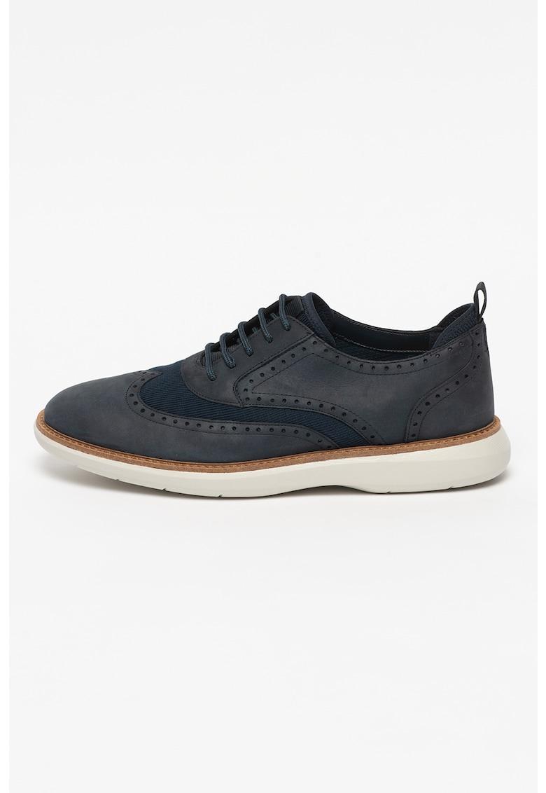 Pantofi de piele nabuc Brantin Wing fashiondays.ro