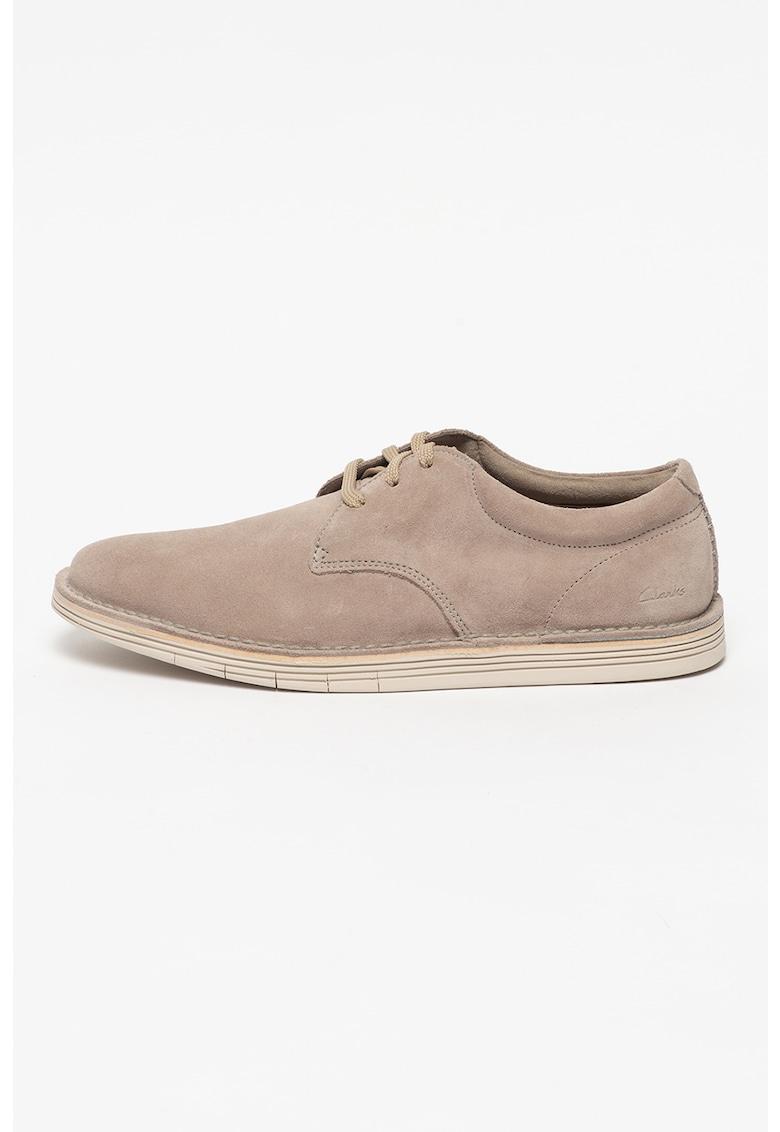 Clarks Pantofi derby de piele intoarsa Forge Vibe