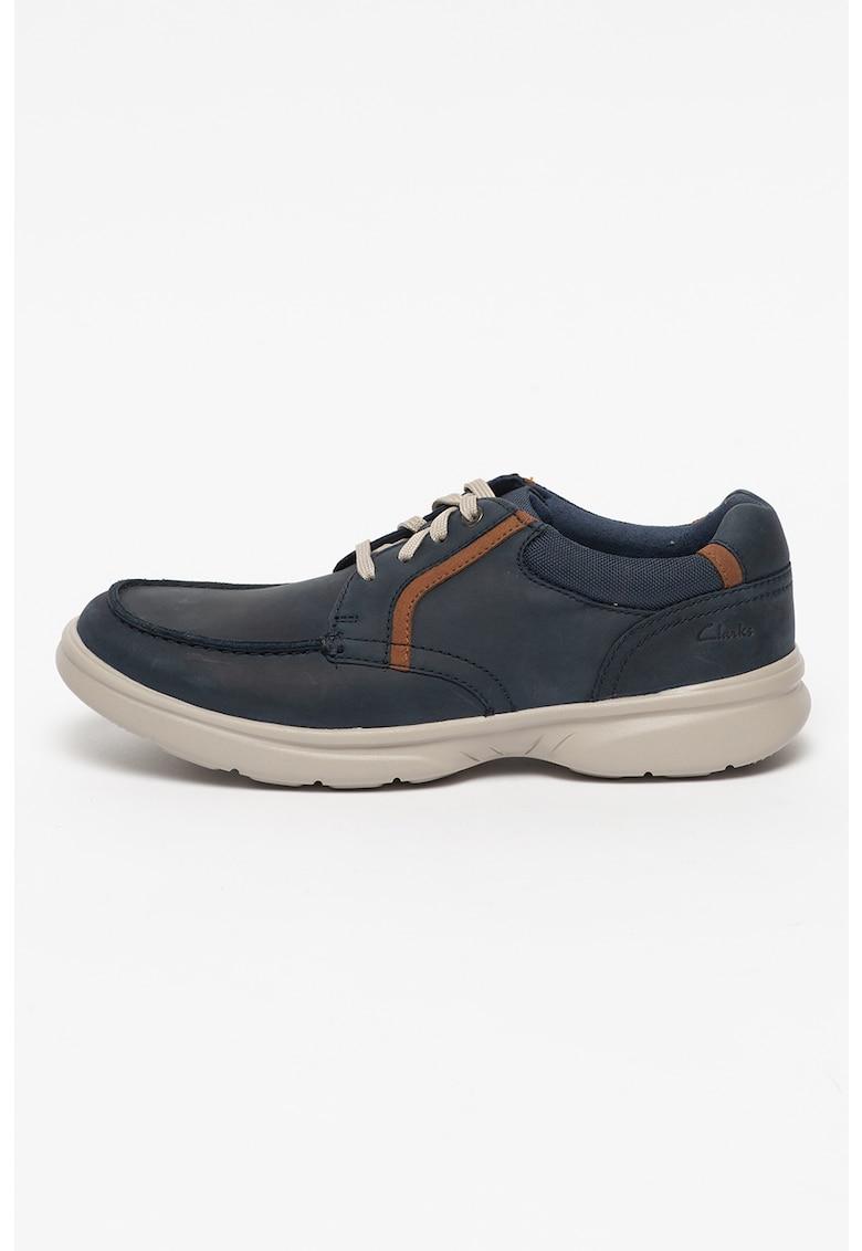 Clarks Pantofi casual de piele si material textil Bradley Vibe