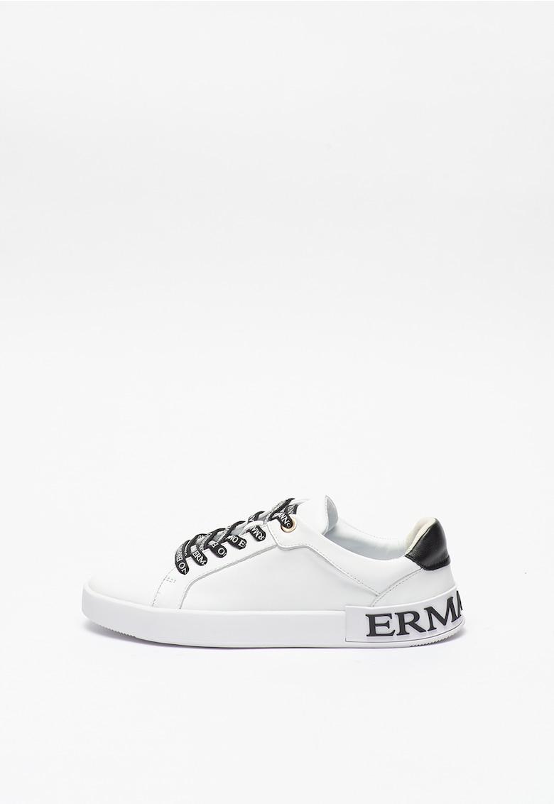 Pantofi sport de piele cu detalii logo imagine