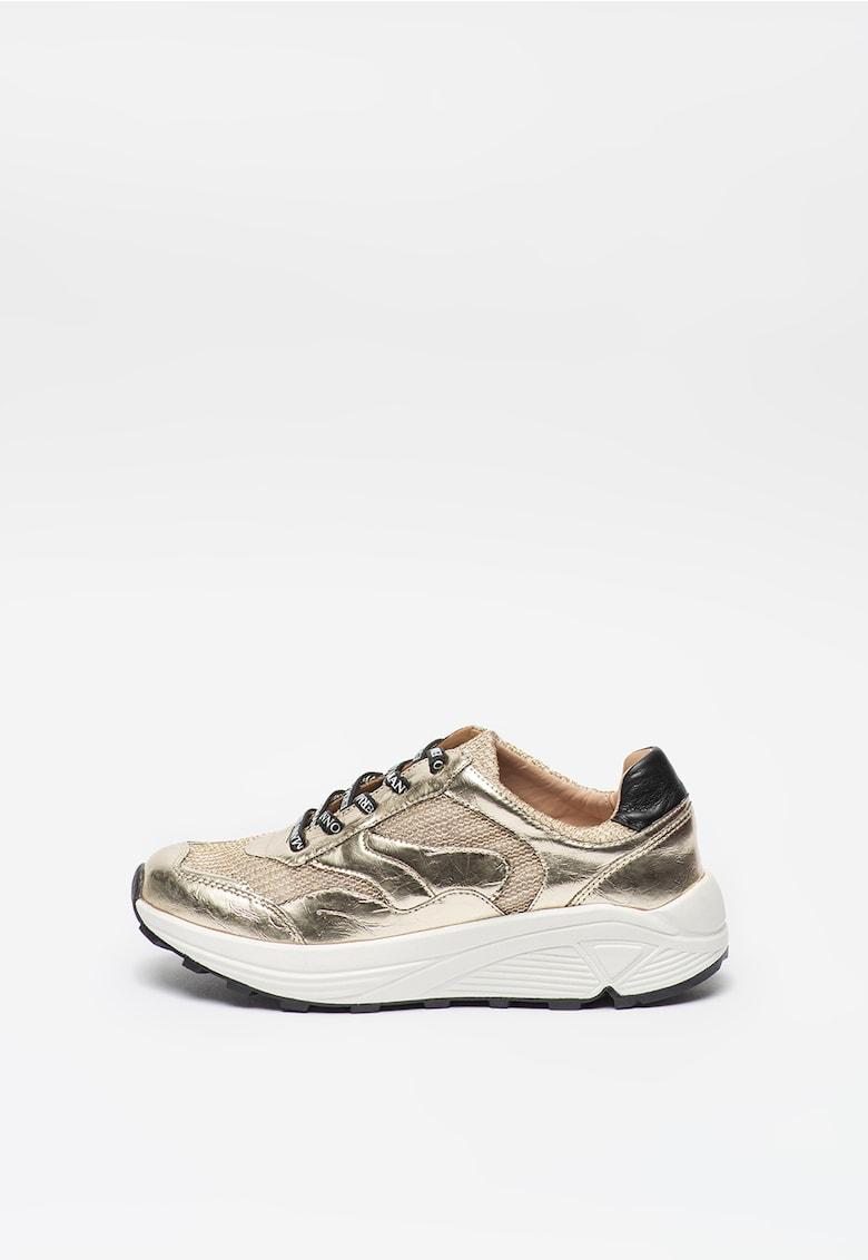 Pantofi sport cu garnituri metalizate de piele ecologica imagine