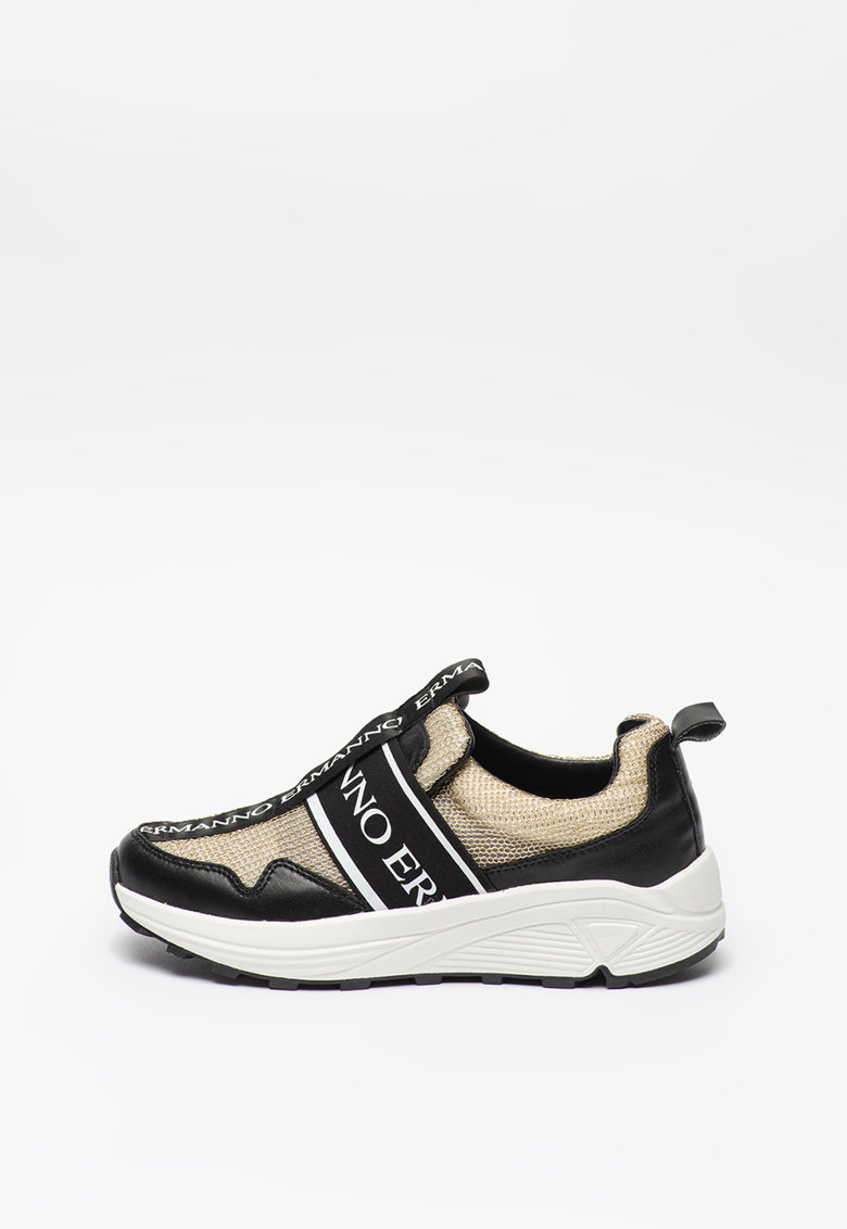 Pantofi sport slip-on cu garnituri cu model logo imagine