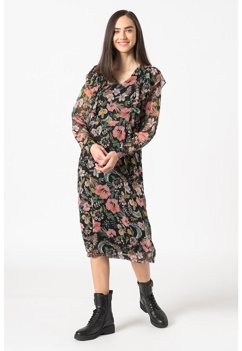Rochie midi cu imprimeu floral Afilikke