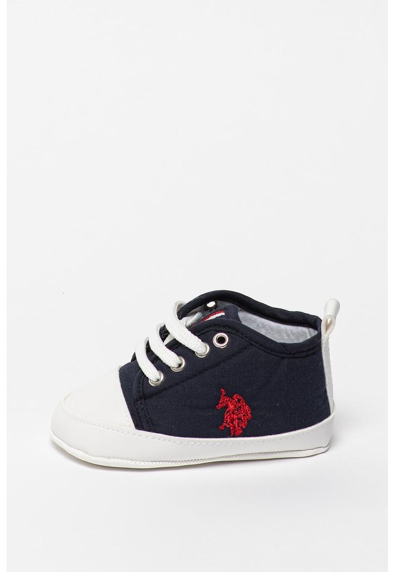 Pantofi sport de piele ecologica si material textil Micky