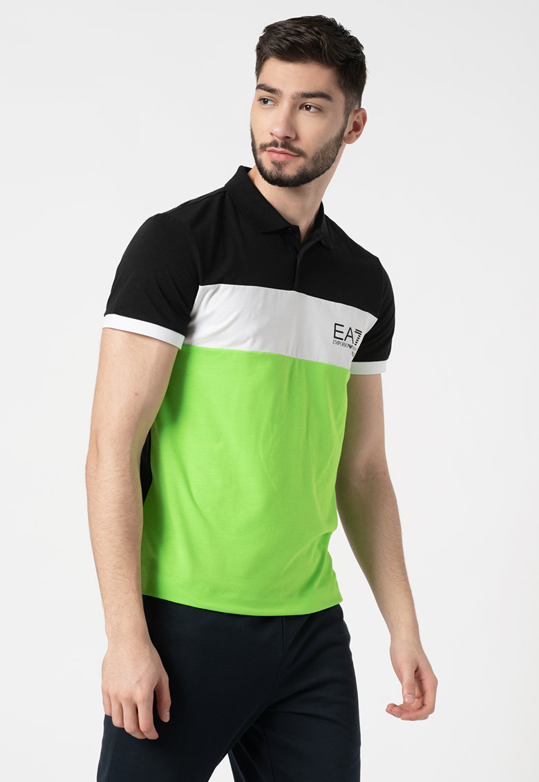 Tricou polo colorblock imagine