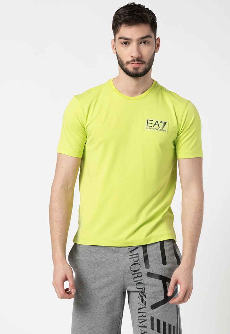Tricou din amestec de lyocell cu aplicatie logo cauciucata imagine