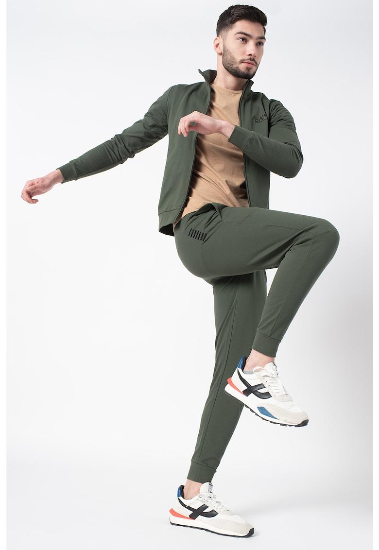 Trening cu pantaloni conici si bluza sport cu fermoar poza fashiondays