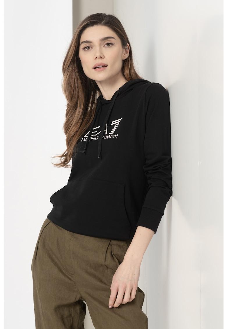 Hanorac cu imprimeu logo EA7 fashiondays.ro