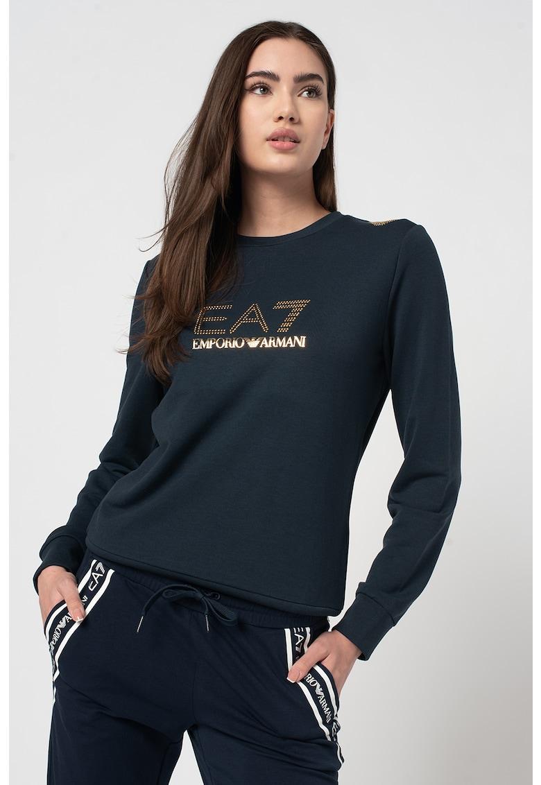 Bluza sport cu aplicatii logo