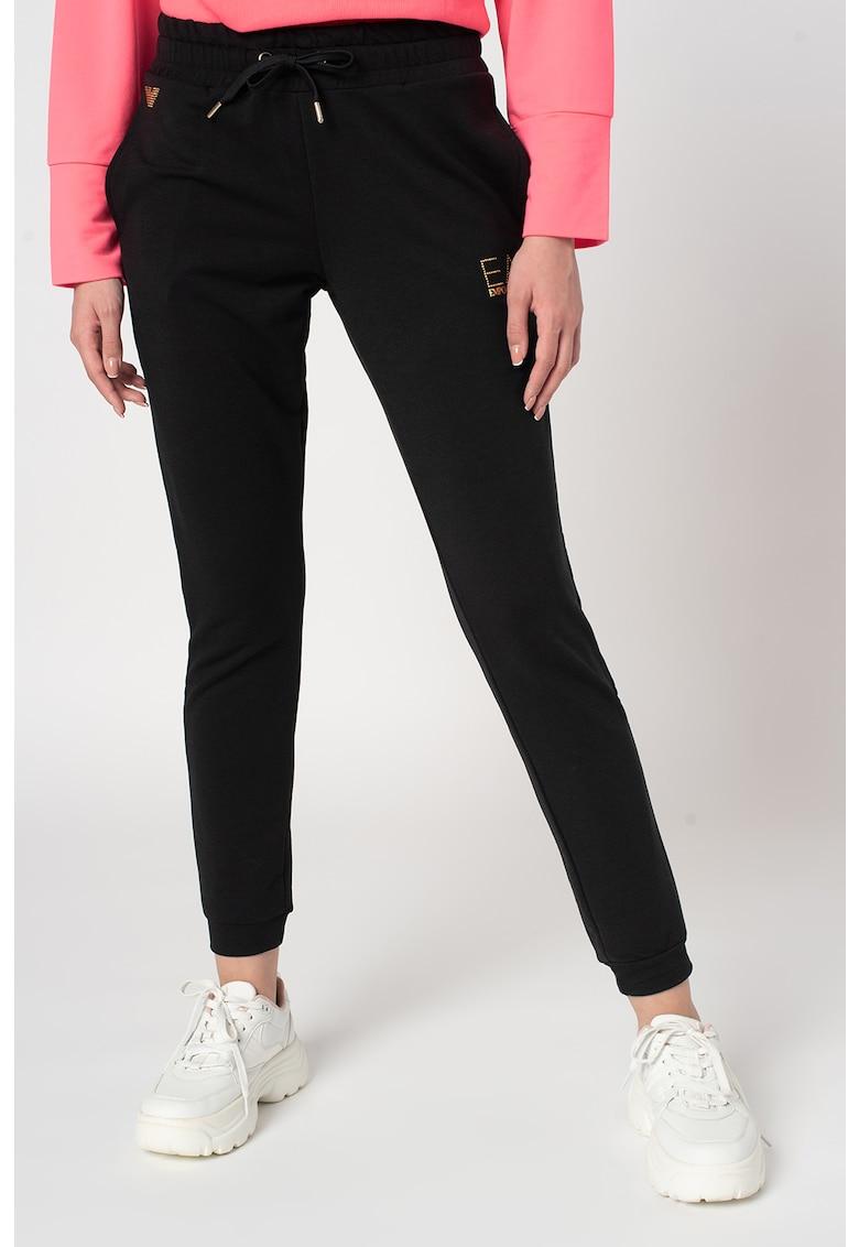 Pantaloni sport cu snur de ajustare in talie de la EA7