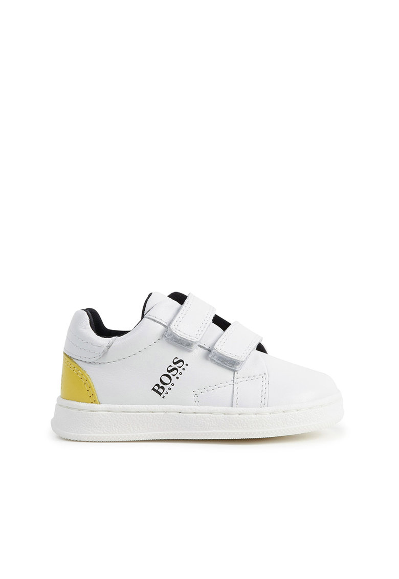 Pantofi sport cu velcro si insertii de piele