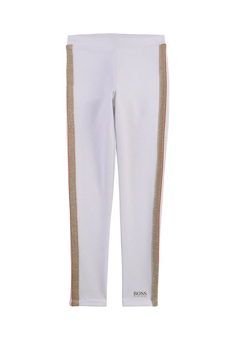 Pantaloni sport cu insertii laterale stralucitoare