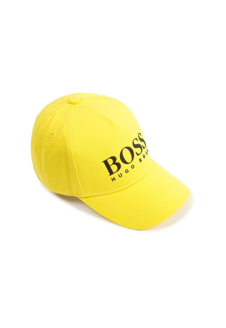 Sapca ajustabila din panza cu logo contrastant Boss Hugo Boss fashiondays.ro