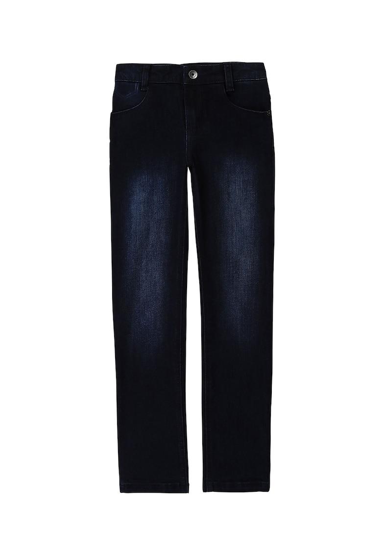 Blugi regular fit cu aspect decolorat poza fashiondays