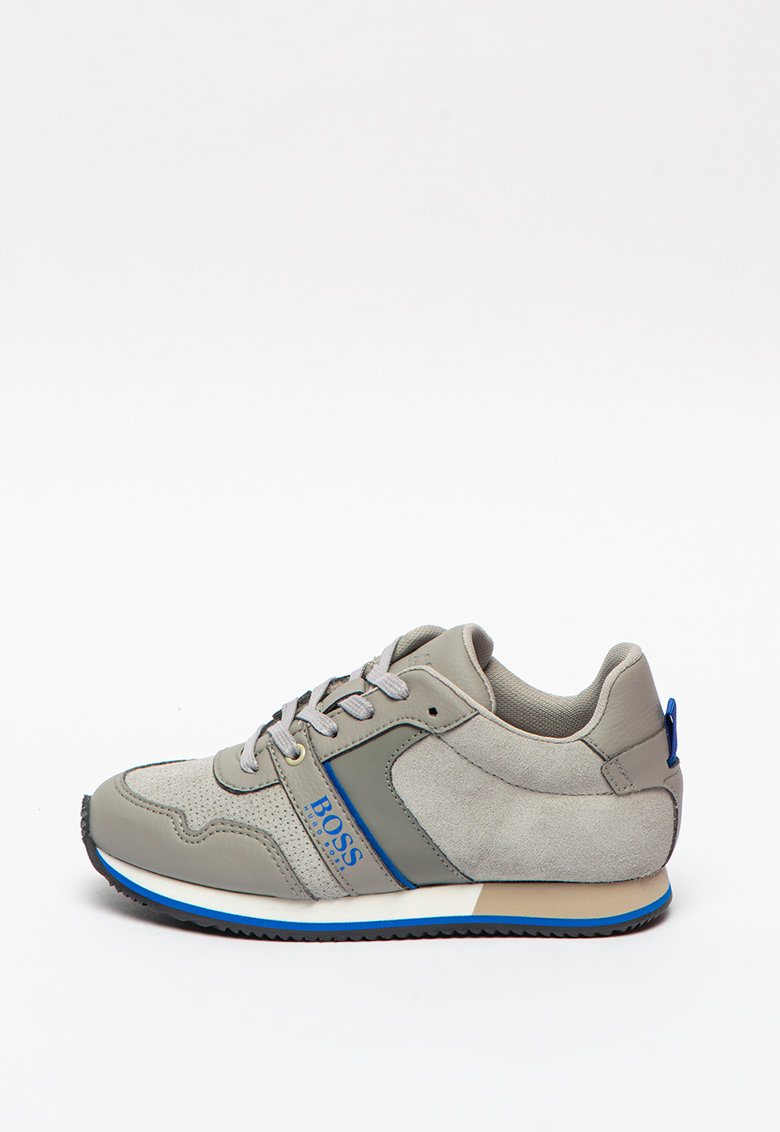 Pantofi sport din piele si material textil