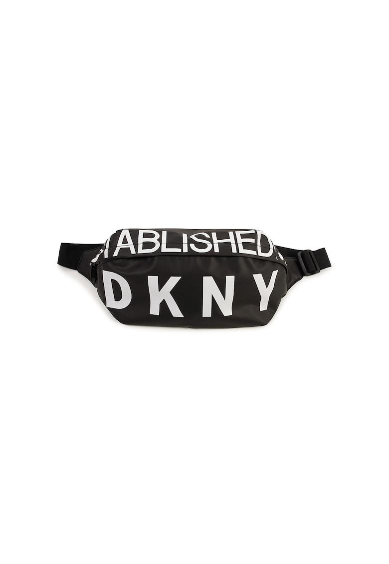 Borseta cu imprimeu logo imagine fashiondays.ro DKNY