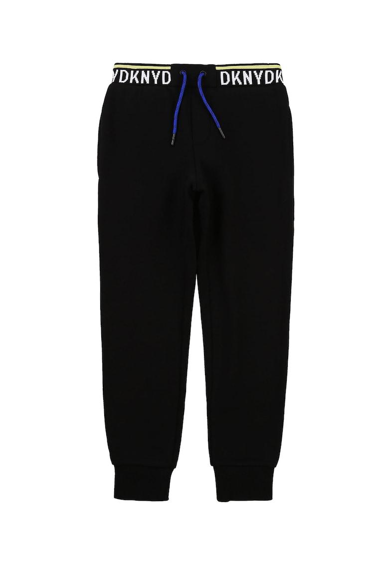 Pantaloni sport cu banda logo in talie