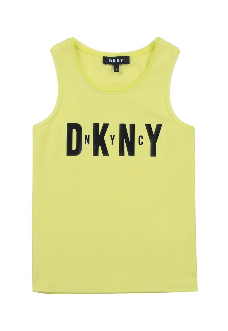 Top cu imprimeu logo DKNY fashiondays.ro