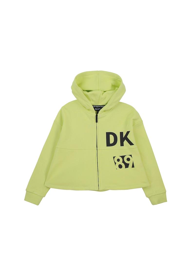 Hnorac cu fermoar si imprimeu imagine fashiondays.ro DKNY