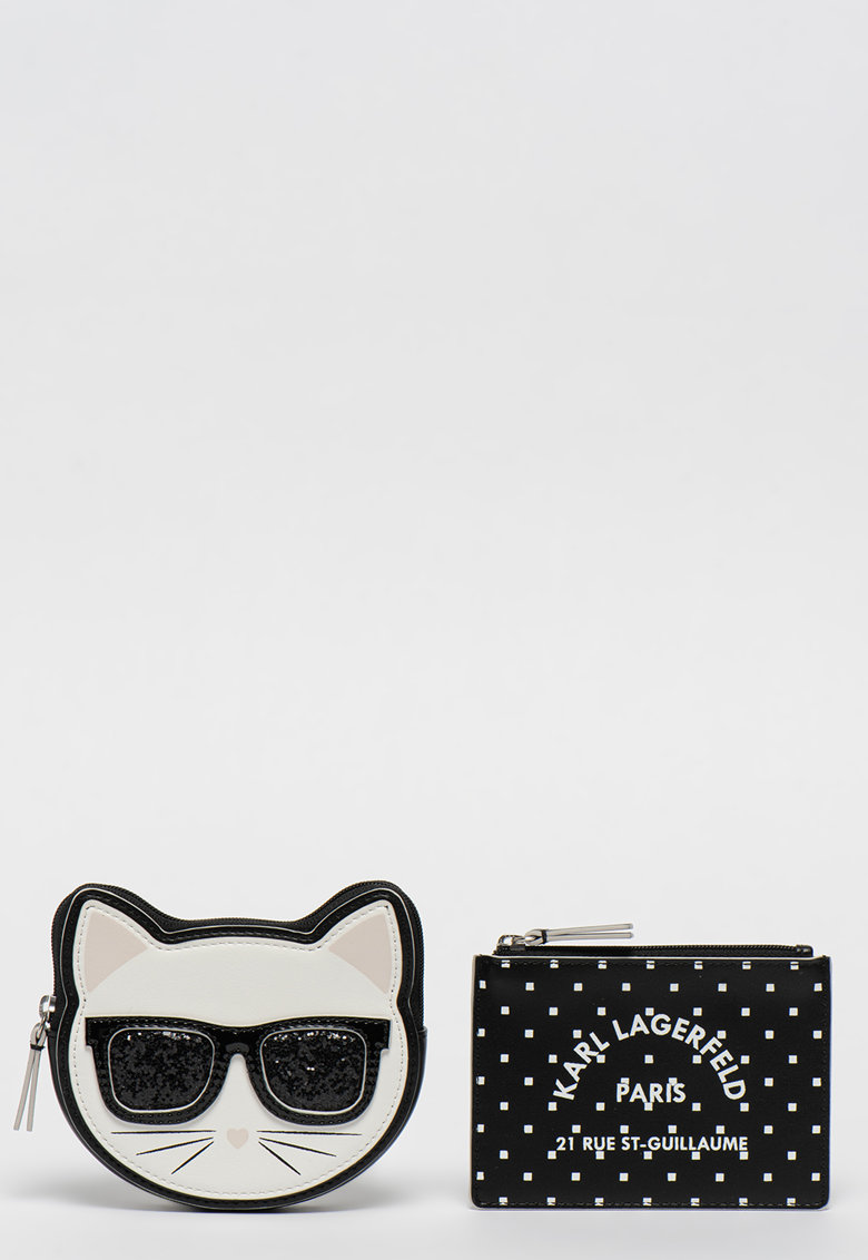 Karl Lagerfeld Set de portcarturi cu model choupette - 2 piese