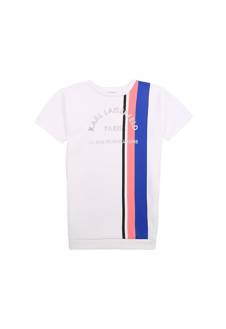 Rochie tip tricou cu imprimeu logo