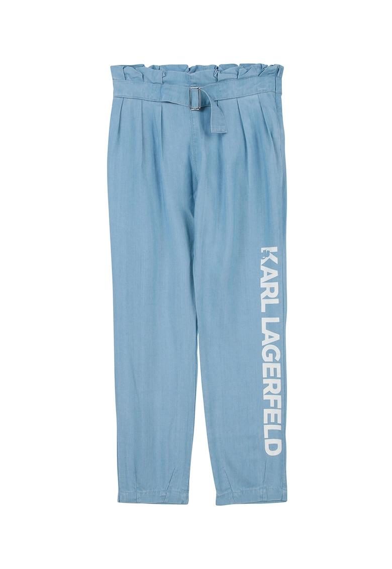 Pantaloni de reiat cu imprimeu logo