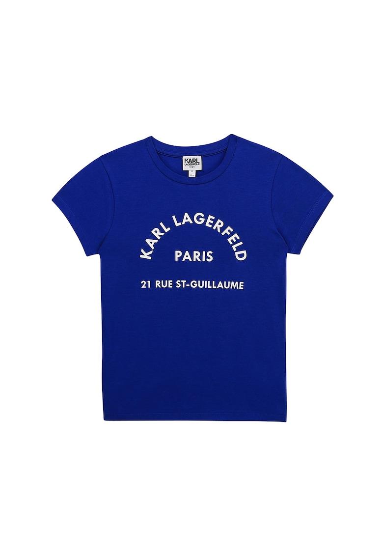 Tricou din amestec de modal cu imprimeu logo poza fashiondays