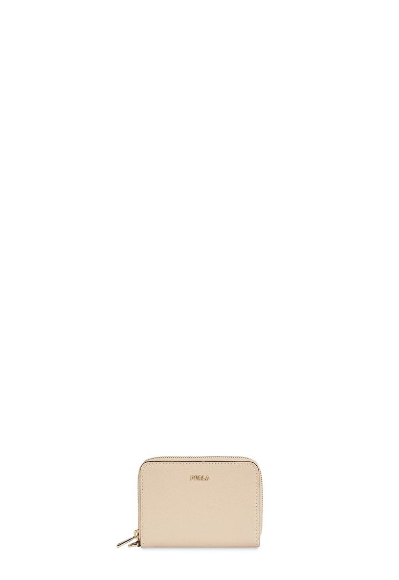 Portofel din piele cu aplicatie logo metalica Babylon imagine