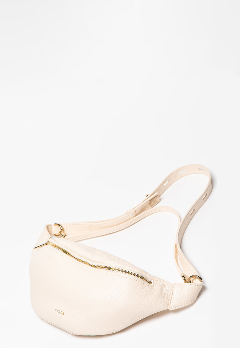 Borseta de piele cu logo discret imagine fashiondays.ro Furla