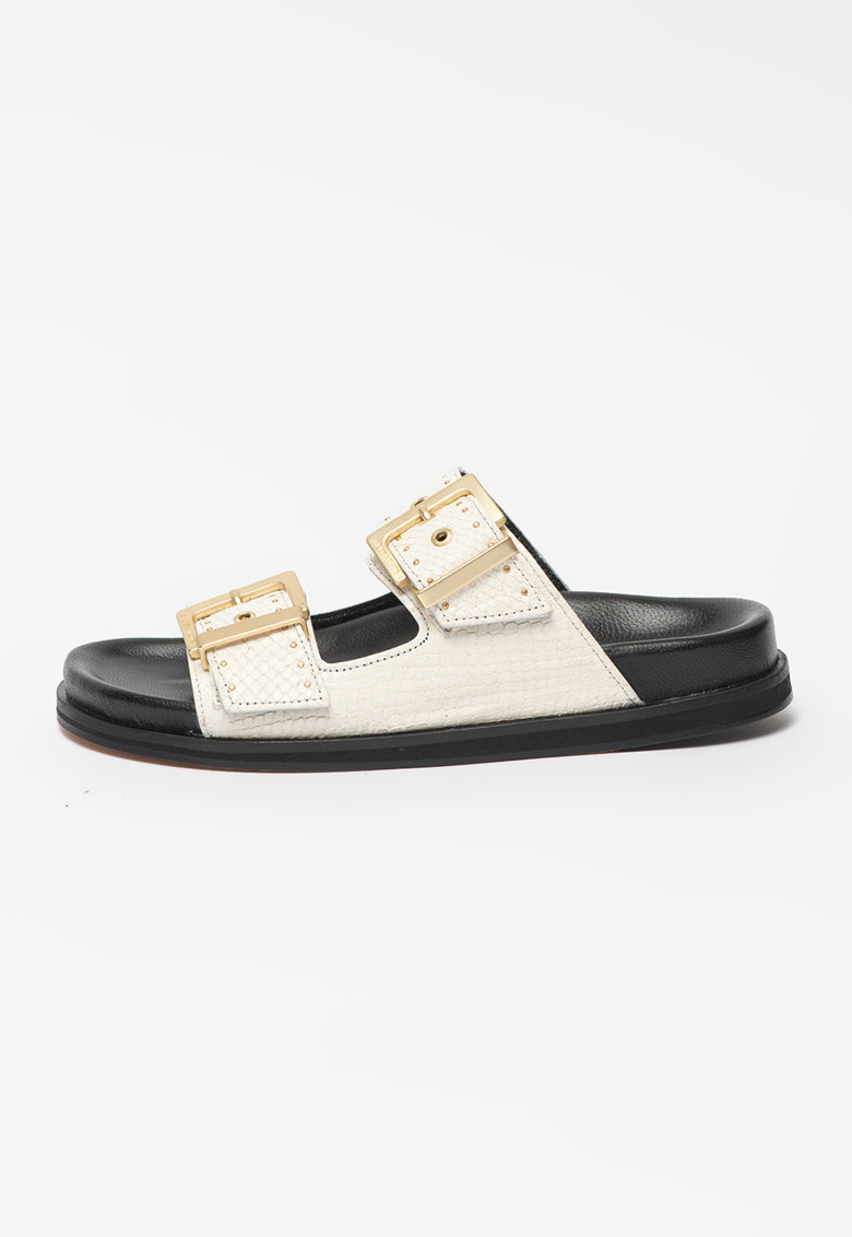 Papuci din piele Mae