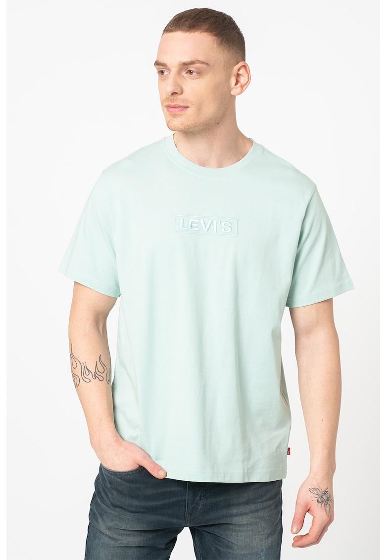Tricou relaxed fit cu logo brodat Bărbați imagine