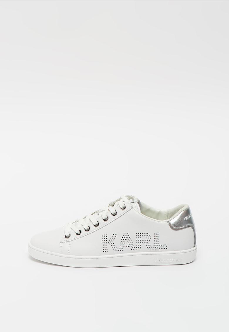 Pantofi sport din piele cu logo cu perforatii Kupsole II